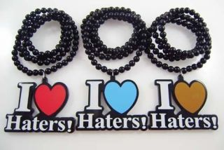 Good Quality 1pcs Acrylic DGK  I LOVE HATERS Pendants Beads Necklaces