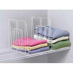 Shelf Divider for Wire Shelving   Large   Set of 2   by Spectrum
