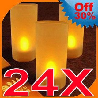 Tealight Yellow Tea Lights Lamp Candle Blowing Flameless FLICKER Cup