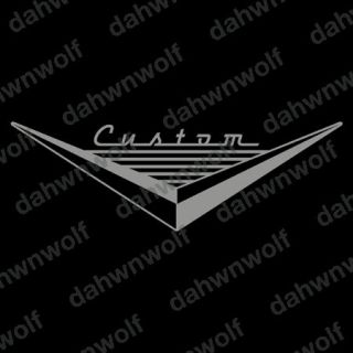 CUSTOM V EMBLEM car window fender hood trunk lid decal sticker ***