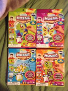 MAKE YOUR OWN MOSAIC CREATIVE ART KIT 4 DESIGNS TO CHOOSE FROM GREAT