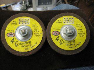 Vintage Globemaster 1901 4 Grinding Wheels Wheel Fine & Medium