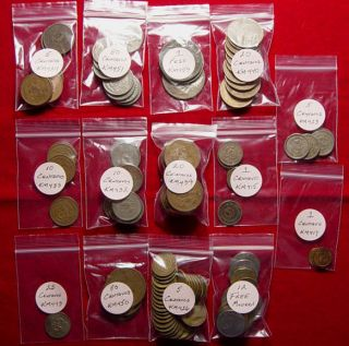 Lot Of 107 OLD Mexican Coins   L@@K   All From The 60s And Older   L