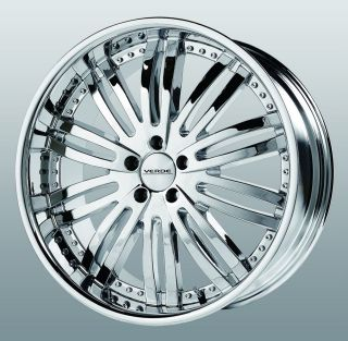 20 inch Verde Madonna Chrome Wheels Rims 5x115 De Ville DTS El Dorado