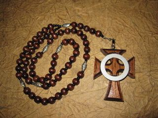 Handmade Boondock Saints Inspired Wooden Rosary and small Saint style