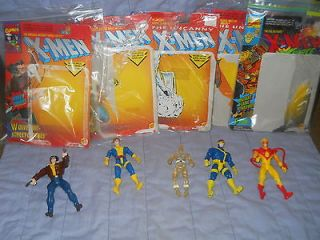 MEN ACTION FIGURES 1992 94 PYRO, CYCLOPS, ICEMAN, MORPH & WOLVERINE