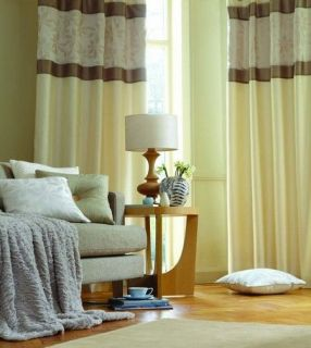 ivory faux silk curtains in Curtains, Drapes & Valances