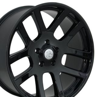 Set of (4) 20 Black Dodge Ram Dakota Durango SRT Replica Wheels Rims