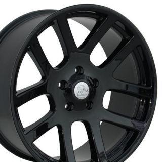 Set of (4) 20 Black Dodge Ram Dakota Durango SRT Replica Wheels Rims