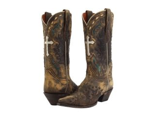 Dan Post Womens Anthem Tan Vintage Leather Western Cowboy Boots