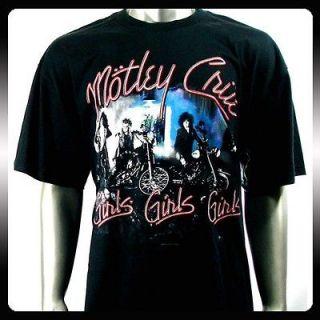 Motley Crue American Heavy Metal Rock T shirt Sz M Men Punk