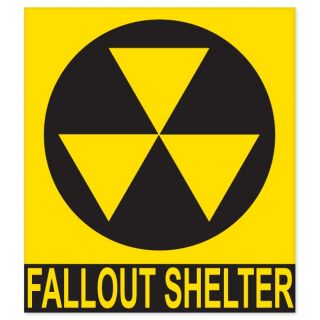 Nuclear Fallout Shelter Sign car bumper sticker decal 5 x 4