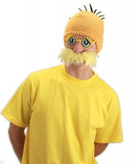 Dr Seuss LORAX Costume Accessory KIT yellow mustache glasses beanie