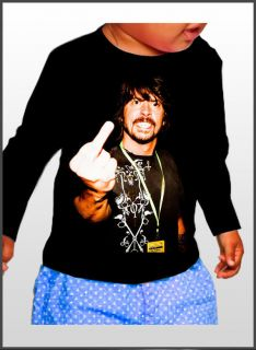 Dave Grohl Foo Fighters Nirvana T shirt Baby Cotton Rock Funny Image