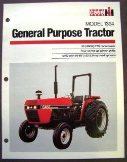 Case   International Harvester Model 1394 Tractor Brochure Spec Sheet