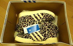 Adidas Originals by Jeremy Scott Mens ObyO JS Leopard Tail Shoes US 9