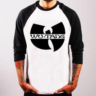 Wu Tang Clan logo Rap Hip Hop Baseball Jersey t shirt 3/4 sleeve