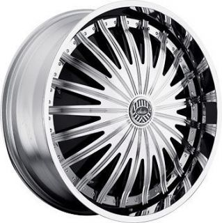 22 DAVIN REVOLVE SPINNERS SHAM II WHEEL SET 22x9.5 RIMS 5   6 Lug