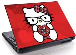 Nerd Geek Chick Laptop Skin decal 15 17 19 Mini Netbook Macbook 13