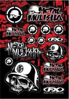 LARGE METAL MULISHA STICKER KIT Motorbike Car Truck Stickers