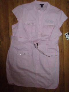 NWT new DEREON by Beyonce Pink shirt style DRESS ~Plus size 2X