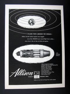 Allison Turbine Engines J 35 Axial flow Turbo jet Engine 1949 Ad