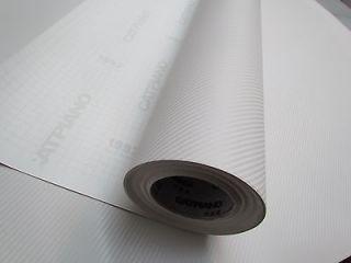 12 X 60 CARBON FIBER VINYL WRAP WHITE 3D PRO GRADE BUBBLE FREE AIR