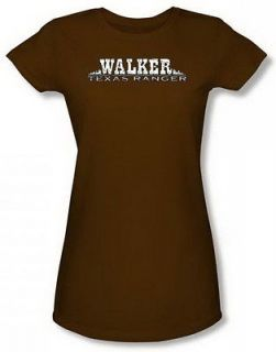 Walker Texas Ranger Logo Jr Coffee Sheer Cap Slv T Shirt CBS808 JS
