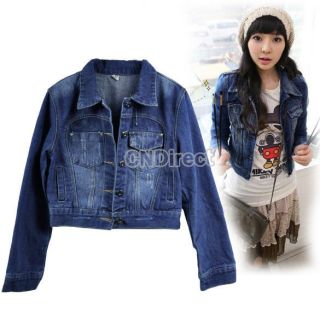 womens short sleeve denim jacket