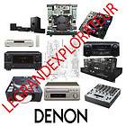 Ultimate DENON repair and service manuals (PDFs on DVD)