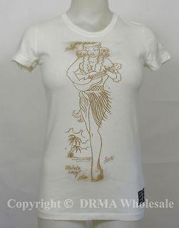 SAILOR JERRY Tattoo Hula Girl Juniors Tee T Shirt S M L XL NEW