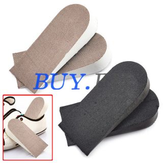 Pair 2.5cm Height Increase Foam Insole Shoe Inserts Invisible Heel