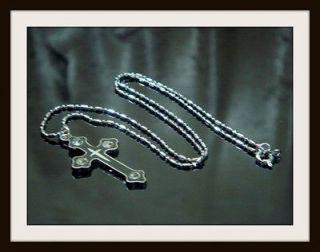 18k White Gold GP Necklace Chain Round Cut Lab Diamond Cross Pendant