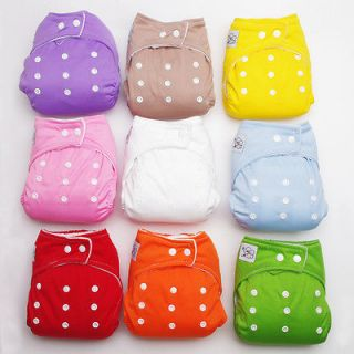PCS Waterproof Baby Diapering Re useable Cloth Diapers Cover With 9