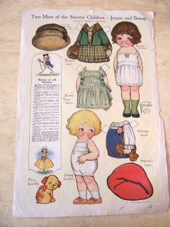 Apr 1920 Dolly Dingle paper dolls   Sweetie Children   by Grace
