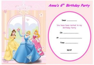 Disney Princess Party Invitations in Home & Garden