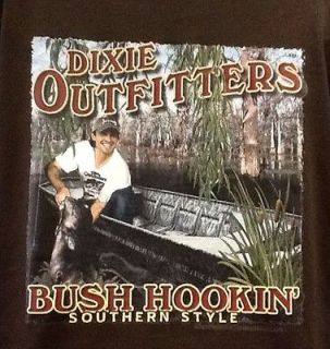 NWT Mens SS Dixie Outfitters Tee, Size Large, Bush Hookin