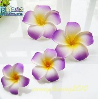 20pcs purple Fabulous Hawaiian foam frangipani flowers wedding party