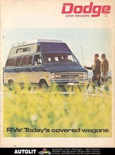 1970 Dodge Motorhome RV Van Camper Brochure