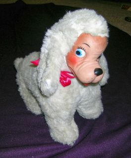 Adorable Vintage RUBBER FACE Plush DOG Rushton? Knickerbocker? Gund