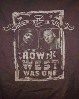 Snoop Dogg The Game T Shirt West Tour Brown Size XXXL