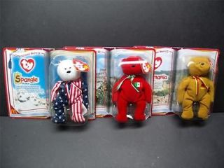 Ty BEANIE BABIES International Bears II Set of 3 Bears USA, Mexico