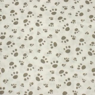 Puppy Dog Paw Print FQ Fat Quarter Quilt Fabric c906