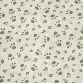 Puppy Dog Paw Print FQ Fat Quarter Quilt Fabric c906
