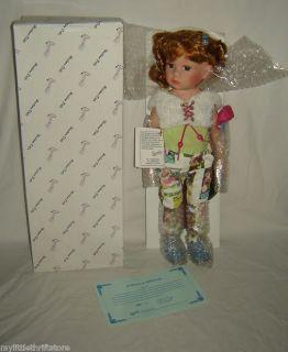 NIB Duck House Heirloom Porcelain Doll POLLY w/Cert.