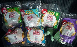 Lot of 7 1998 ANIMAL KINGDOM McDonalds Never Opened Happy Meal Toys
