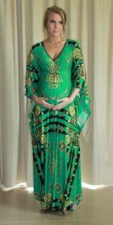 New Donatella Emerald Green Maternity Kaftan Maxi Dress Formal Sizes