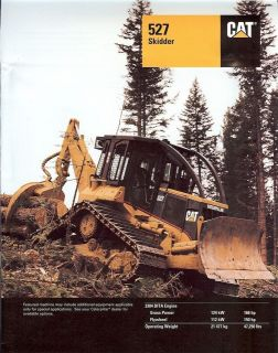 Equipment Brochure   Caterpillar   527   Logging Skidder   1996 (EB256