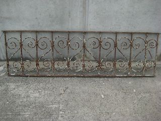 VERY UNIQUE ANTIQUE WROUGHT IRON RAILING *** 65 Wide x 18.5