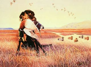 AP Edition Signed Numbered Ducks Unlimited Dowdy Labrador Dog 37